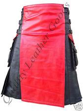 Echtleder doppelseitig Kilt Cargo Taschen Schottisch plissiert Gladiator BLUF