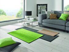 Fußmatte WMK wash + dry Monocolour Trend Apple Green in 7 Größen lieferbar