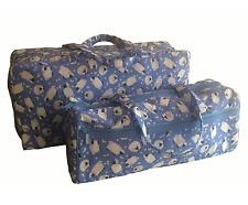 Knitting / Craft Bag Pretty Light Blue with White Sheep Storage Zip Close 2Sizes