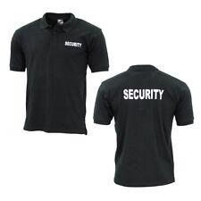 Security Polo Shirt Sicherheitsdienst Ordner T-Shirt Hemd Poloshirt schwarz