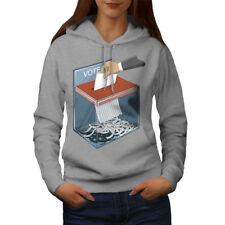 Wellcoda Fake Elections Womens Hoodie, Conspiracy Casual Hooded Sweatshirt