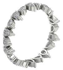 14K Gold Pear Cut Diamond VVS1 F 1.30 Ct Eternity Martini Set Stackable Ring