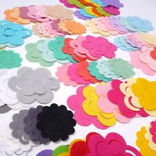 die cut 3D FELT FLOWERS pack of 12 cut from Premium Wool Blend Felt, 40% wool