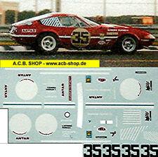 Ferrari Daytona LeMans 1972 # 35 1:24 Decal Abziehbilder