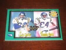 RANDY MOSS & CRIS CARTER 1999 SCORE #275 GENUINE AUTHENTIC NFL INSERT CARD /1989