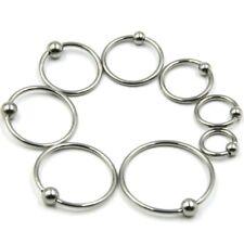 Bcr piercing anello con pallina TRAGUS LABBRA SETTO naso orecchio Helix Argento