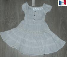 4f40ee2f579 Robes blancs en dentelle pour fille de 2 à 16 ans
