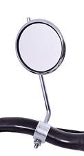 Ammaco Retro Cycling Bike Steel Handlebar Reflector Adjustable Round Mirror Silv