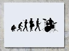 Batteur Evolution Tambours Groupe De Bande Musique Autocollant Art Mur Image