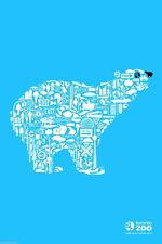 95319 Toronto Canada Zoo Polar Bear Canadian Travel Decor WALL PRINT POSTER DE