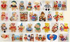 Rare Mint Tagged Disney Store WDW Paris Winnie Pooh Tigger Love Bear Soft Toy