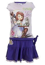 Ragazze Disney Minnie Mouse Principessa Sofia 2pz. Estate Set Top e Gonna Età2-8