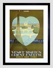 ORIENT EXPRESS VENEZIA Parigi TUNNEL Rail Train Torre Eiffel Art Print b12x2975