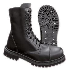10-loch UK Ranger boots stivali 39-47 pelle gotico Stivali Cappa in acciaio