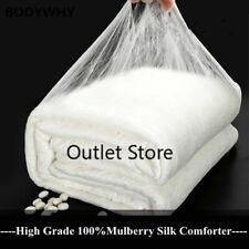 High Chinese 100%Long Mulberry Silk Quilt HandmadeSilk Blankets 100%Cotton Cover