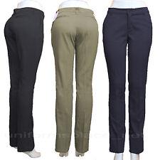 Juniors Stretch Straight Leg Dickies Pants SCHOOL WORK PANTS Black Navy Khaki