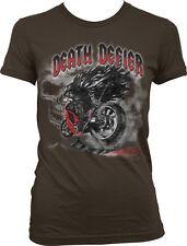 Death Defier Motorcycle Grim Reaper Angel Scythe Riding Bike Of Juniors T-Shirt