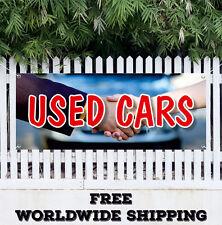 Used Cars Advertising Vinyl Banner Flag Sign Sell Dealer Dealership Store buy