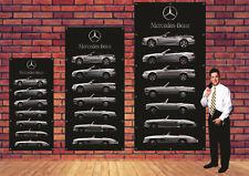Mercedes SL bâche quadri géante 2400x1150mm publicité enseigne collection déco