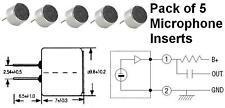 Condensador electret Micrófono insertar (pack 5)