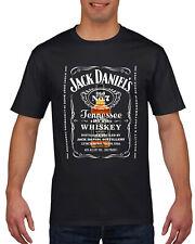 Jack Daniels Bottle Inspired T Shirt  - Individually Printed - Black, White,Grey