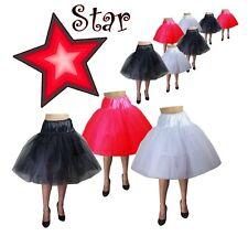 50s Star Crinoline Tulle Petticoat Red Black White Rockabilly Vintage Chic EDITE