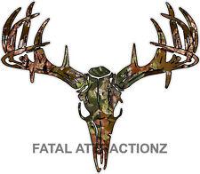 Camo S2 Deer Skull S4 Vinyl Sticker Decal Hunting Buck trophy whitetail rack