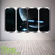 Espacio Planeta Ventana Pared Adhesivo a Todo Color-Tierra Planetas nave espacial SP25