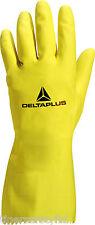 12 Pairs Delta Plus Venitex VE240 Picaflor Yellow Latex Rubber Gloves Marigolds