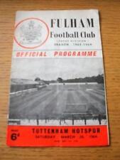 28/03/1964 Fulham v Tottenham Hotspur (plegado, arrugada, cambios de equipo, Agujero en B