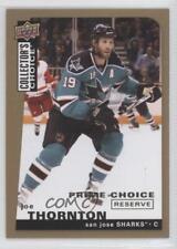 2008-09 Upper Deck Collector's Choice Prime Reserve Gold #81 Joe Thornton Card