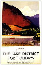 257 Vintage Railway Art Poster - The Lake District