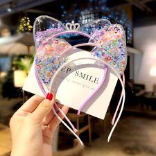 Kids Fashion Princess Gift Sequin Cat Ears Headbands Shining Ornament Hairbands