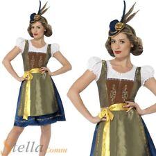 Ladies Deluxe Traditional Heidi Bavarian Costume Oktoberfest Fancy Dress Outfit
