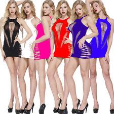 Sexy Fishnet Body Stocking Women Lingerie Babydoll Sleepwear Bodysuit Mini Dress