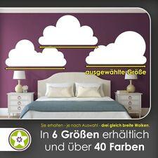 waf1466 - KIWISTAR Wolken Set frei plazierbar Wandtattoo in 6 Größen