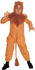 Cowardly Lion Child Costume Wizard of Oz Kids Brown Jumpsuit Halloween