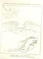 Flaxman's Illiad Drawing -1833- SLEEP ESCAPING JUPITER