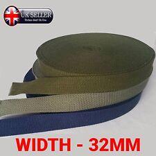 Larghezza 32mm rinforzato Cotone Colore Tela Tessitura Spessa cintura in tessuto nastro cinturino