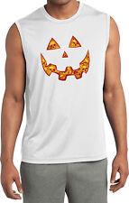 Mens Halloween Jacko O Lantern Skull Sleeveless T-Shirt