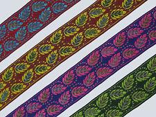 "1 yd Jacquard Trim 2"" wide Woven Border Sew  Ribbon Lace T627"