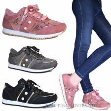 Scarpe donna Sneakers Passeggio Ginnastica Stringate Lacci Raso B01 8a52b694bb6