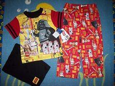 Legos Star Wars Pajamas Sleepwear 3pc Set Boys Sz 4  NWT