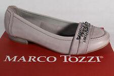 Marco Tozzi Ballerinas Slippers grau, Echtleder  NEU!