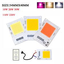 Smart IC Driver LED Floodlight COB Chip 20W 50W 70W 100W Light Full spectrum110V