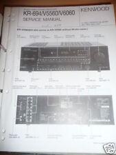 Service Manual Kenwood KR-694/V5560/V6060 Receiver,ORIG