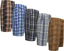 "New Mens 100% Cotton Designer Casual Check Shorts Pants Summer W30""- W40"""