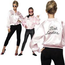Pink Ladies Jacket Ladies Grease Fancy Dress T Bird Licensed Costume Girls 80s
