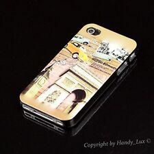 iPhone 4 4S Hard Case Schutz Hülle Cover Etui Motiv London Big Ben Paris + Folie