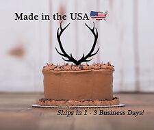 Deer Antler Cake Toppers, Acrylic, Deer Decor, Birthday, Baby Shower, LT1013